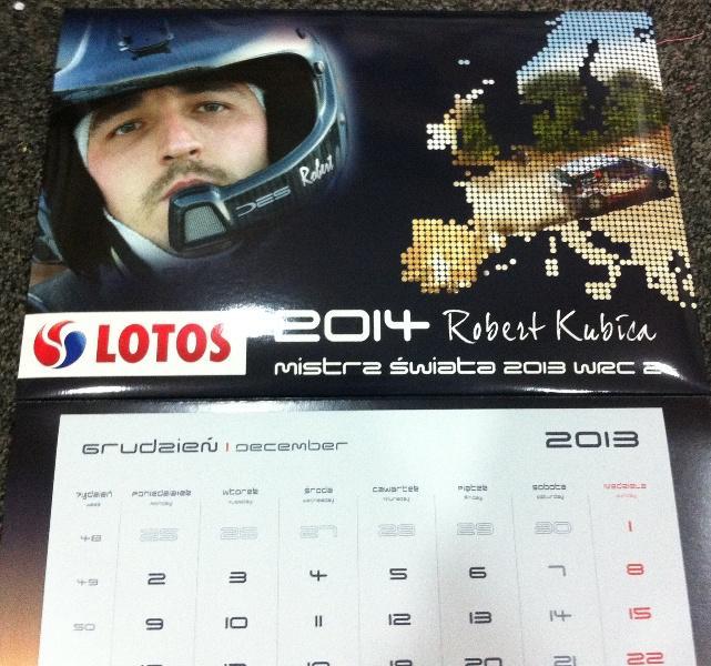 LOTOS & Robert Kubica - kalendarz 2014