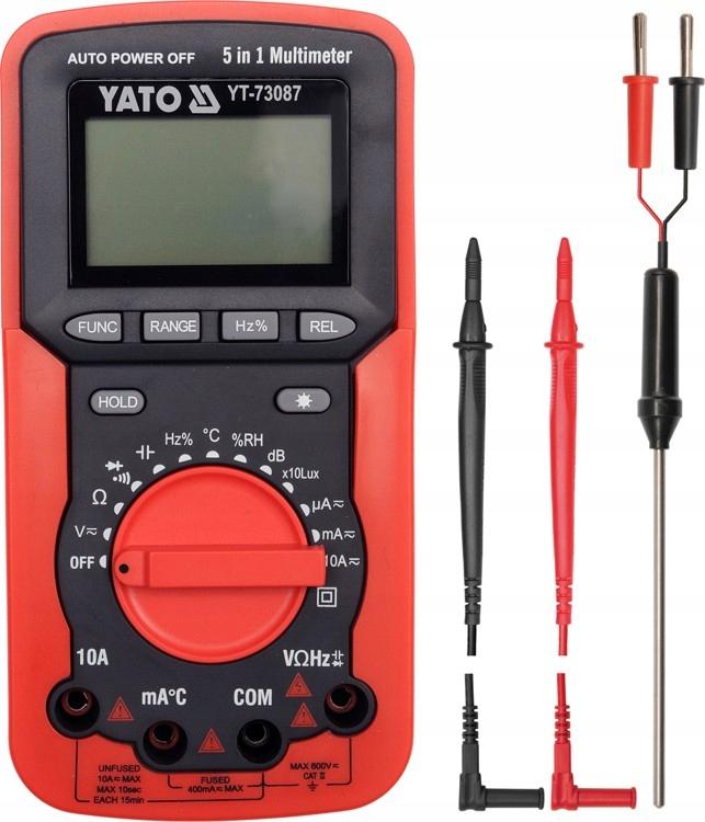 Multimetr/miernik cyfrowy, 5 w 1 YT-73087 YATO