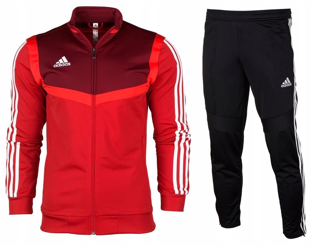 Adidas Dres Komplet JR Spodnie Bluza Tiro 19 r.164