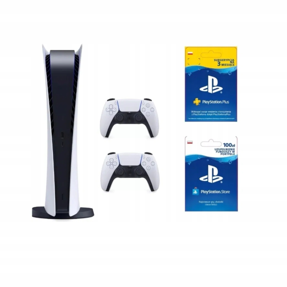 Sony PlayStation 5 Digital 2 Pady PS PLUS PS STORE