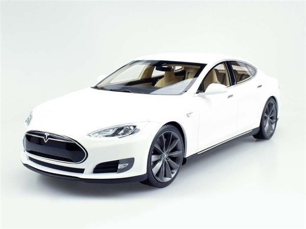 Lucky Step Models Tesla Model S 2012 White 1 18 Ls 7409639974 Oficjalne Archiwum Allegro
