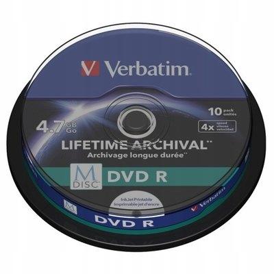 *Płyty DVD R Verbatim M-DISC Lifetime Print 10 SZT