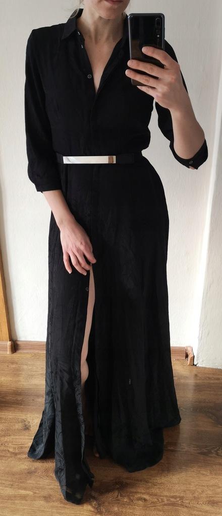 Guess długa czarna suknia rozmiar XS