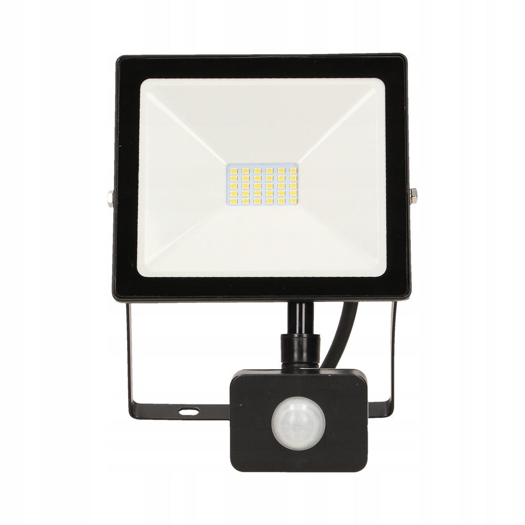 Naświetlacz LED 20W czujnik PIR lampa halogen 4000