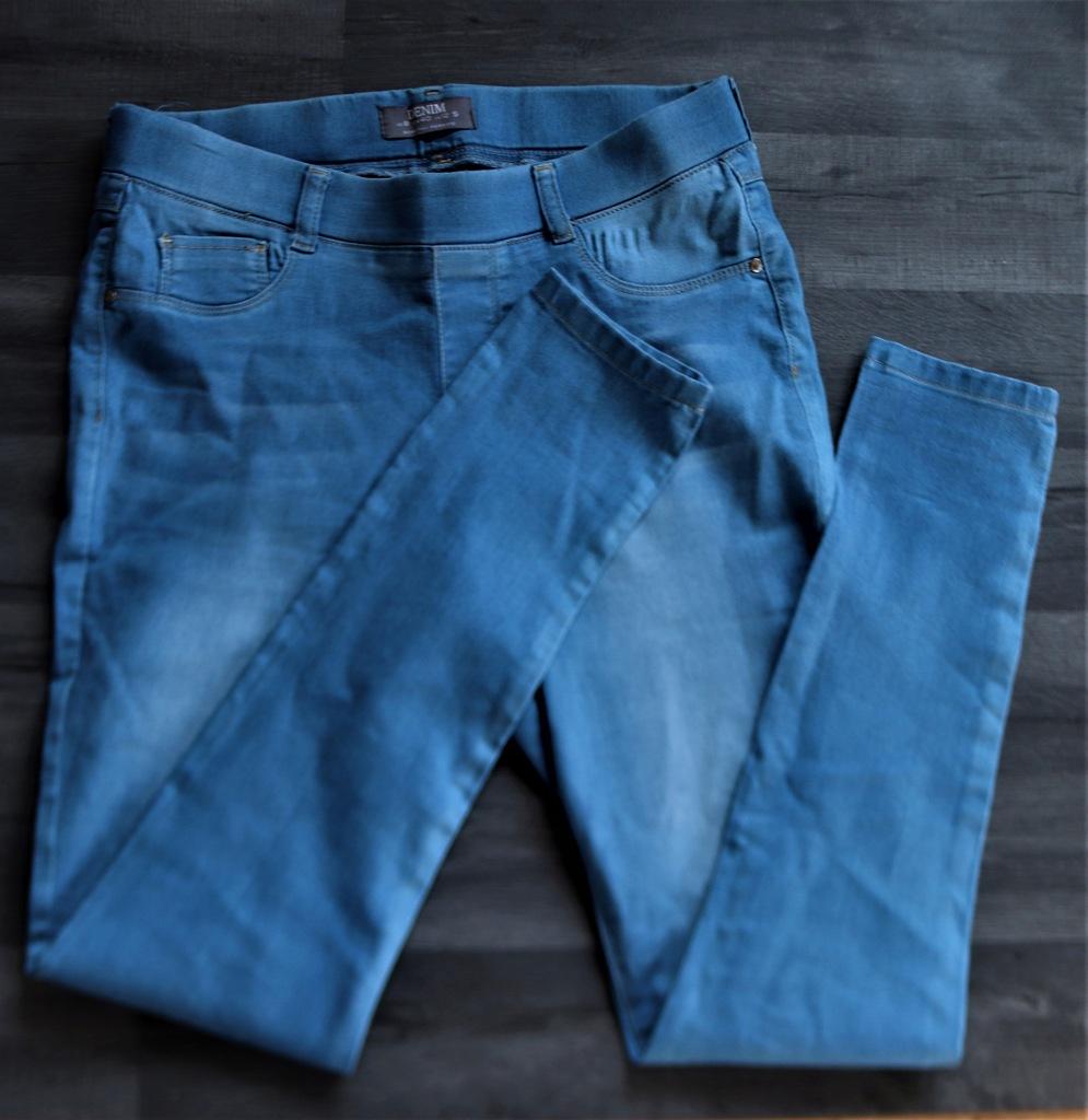 DOROTHY PERKINS spodnie tregginsy L niebieskie