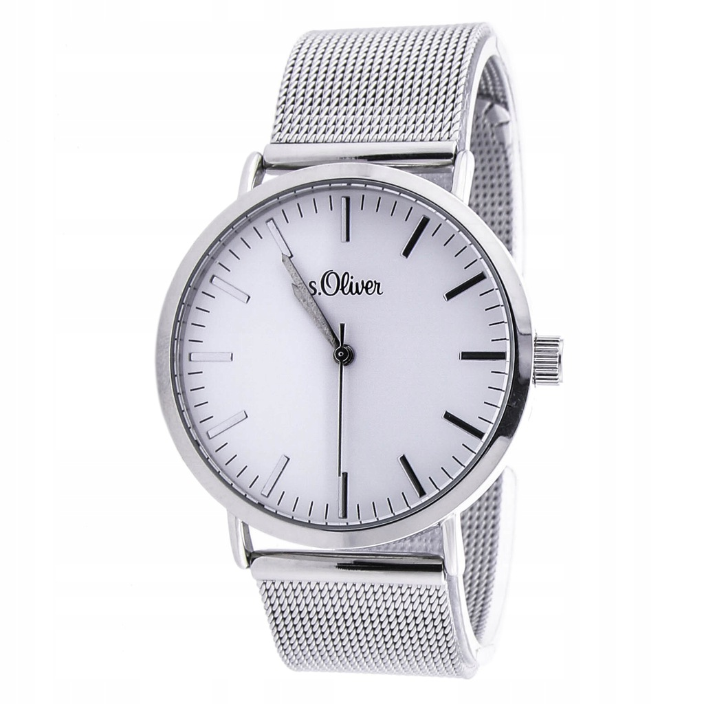 Zegarek s.Oliver SO-3145-MQ mesh srebrny