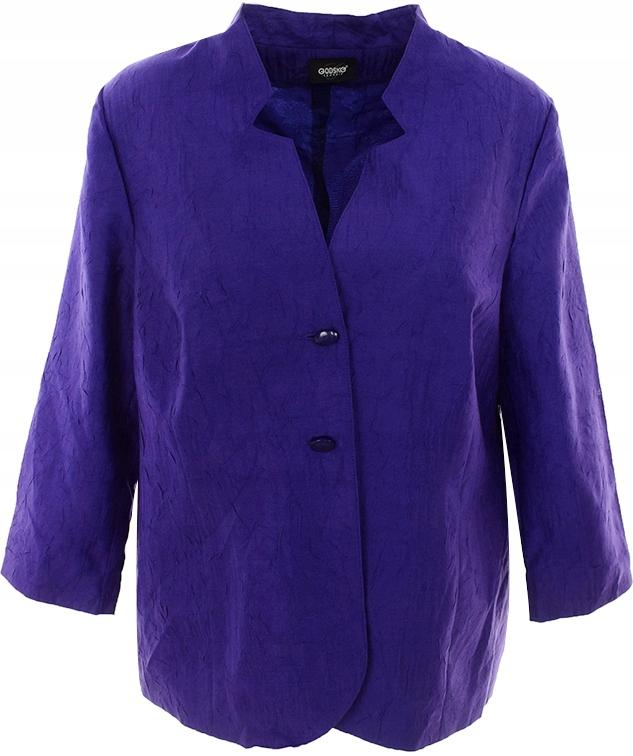 aDDD4786 fioletowy modny żakiet 48