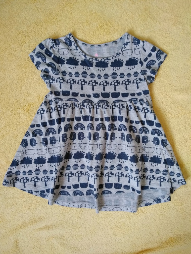 Letnia bawełniana sukienka Next na 86 cm