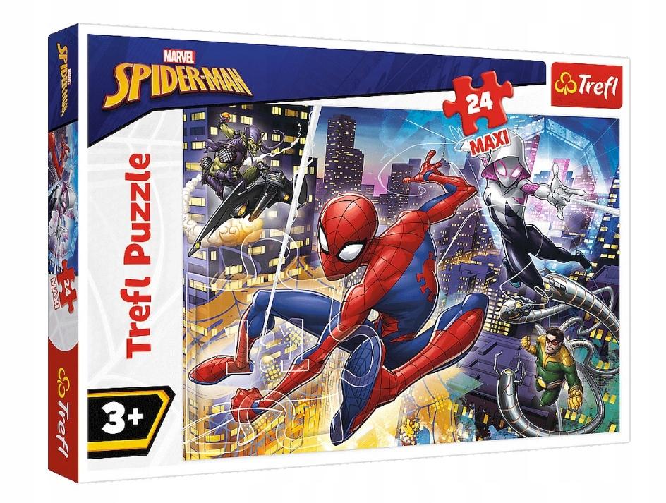 trefl 24 el maxi nieustraszony spider-man 14289