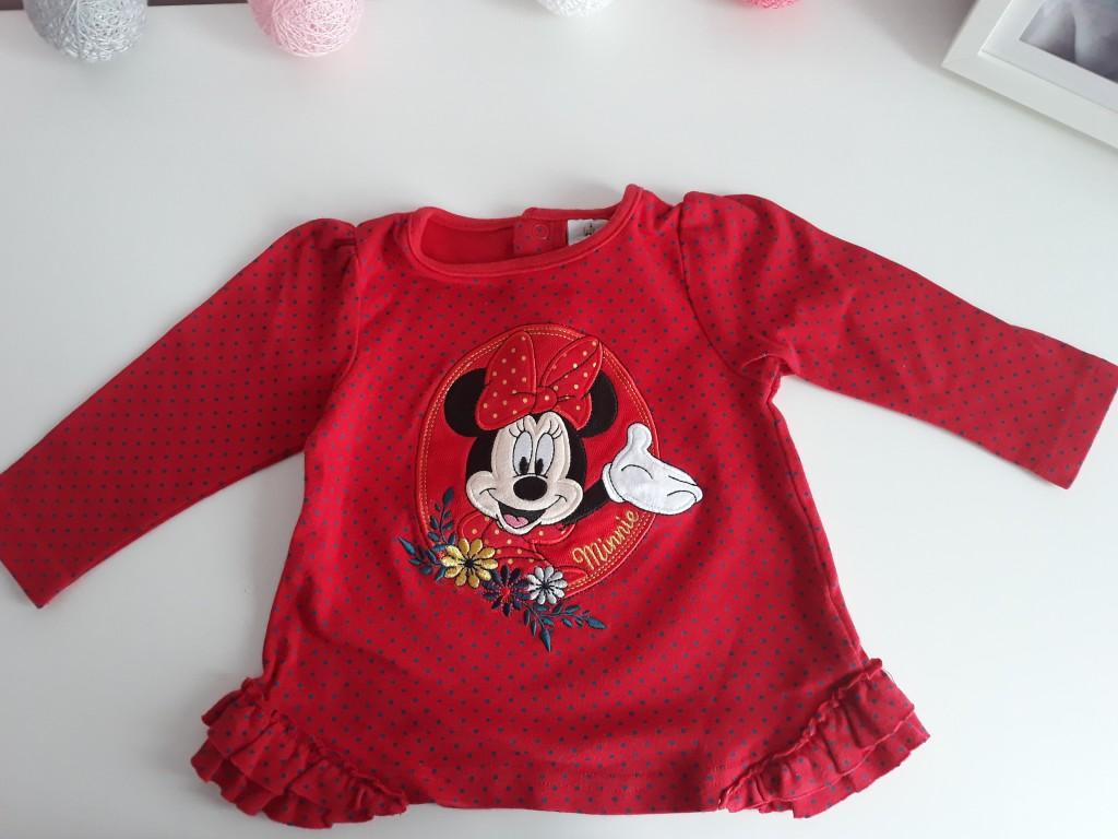 Bluzka Myszka Minnie Disney M&CO 9-12 miesięcy