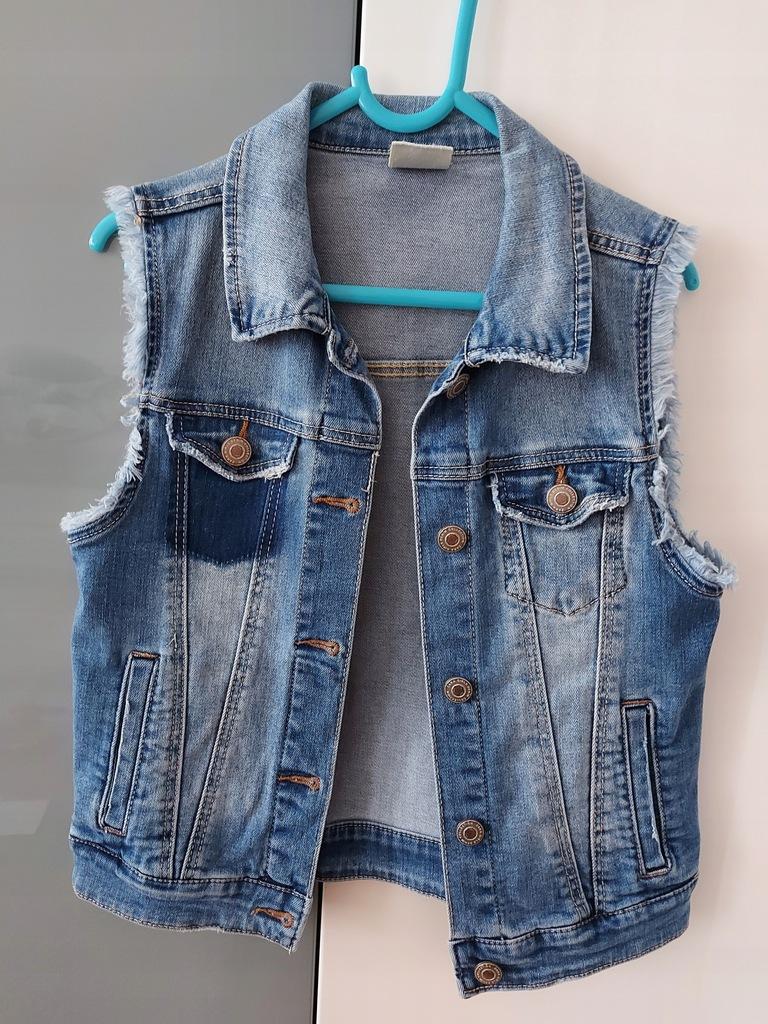 Kamizelka jeansowa zara 140