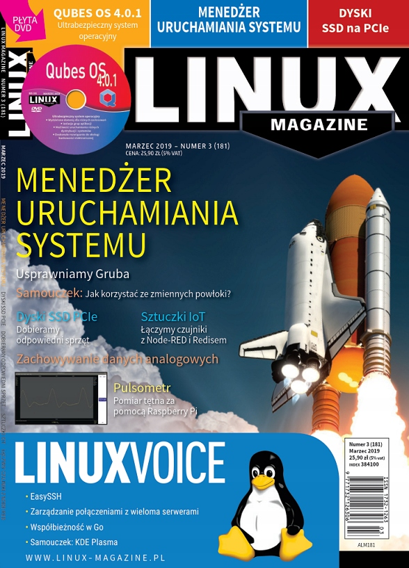 LinuxMagazine 3/2019 Start Systemu Qubes OS4 LM181