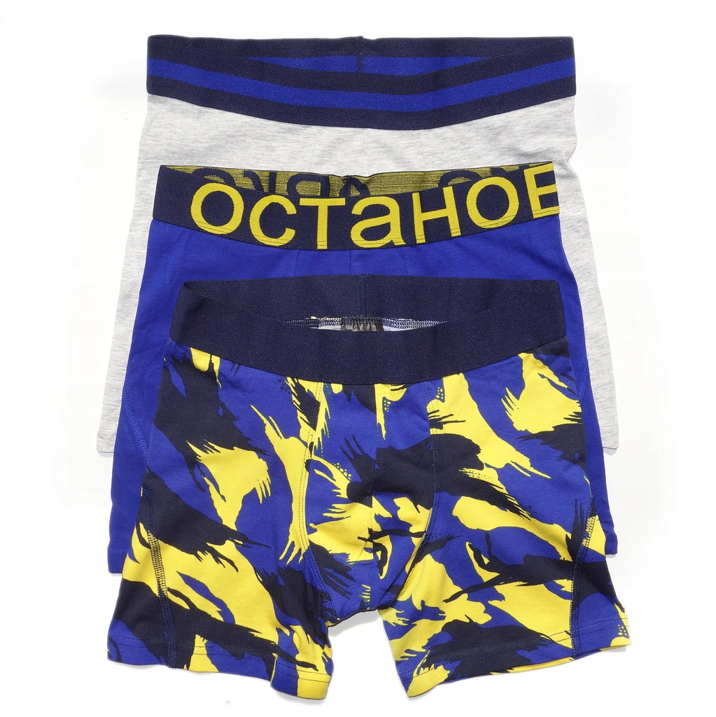 H&M 3 PACK BOKSERKI MĘSKIE MID TRUNKS L