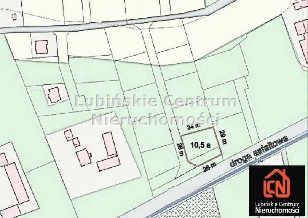 Działka, Krzeczyn Wielki, Lubin (gm.), 1057 m²