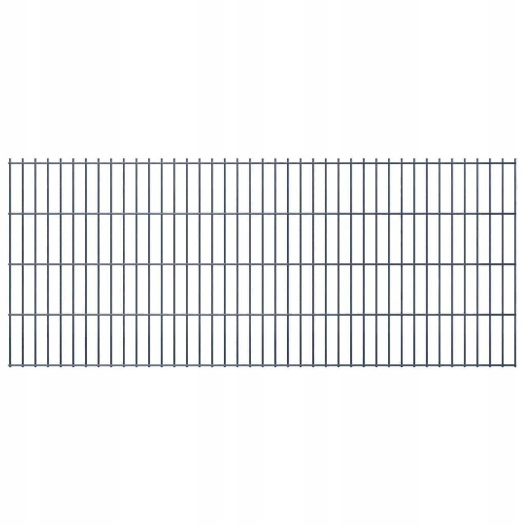 2D Panele ogrodzeniowe 2008x830 mm 48 m szare 24 s