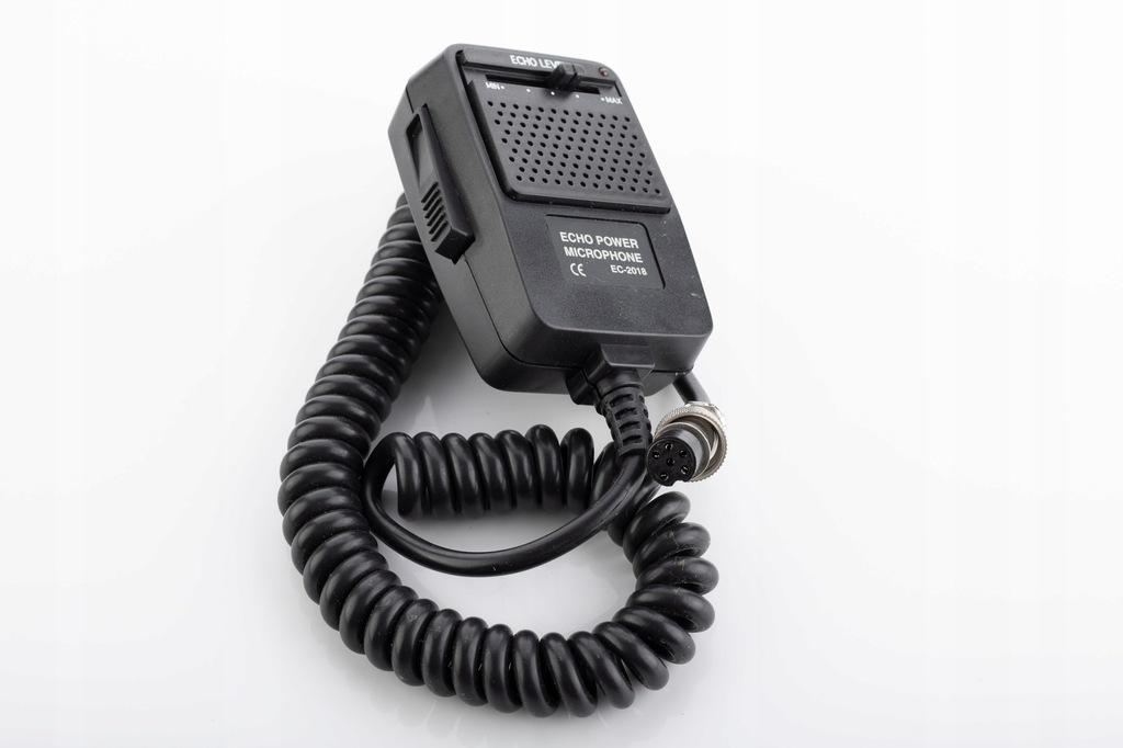 Mikrofon CB K-PO EC-2018 ECHO + wzmocnienie 6 PIN