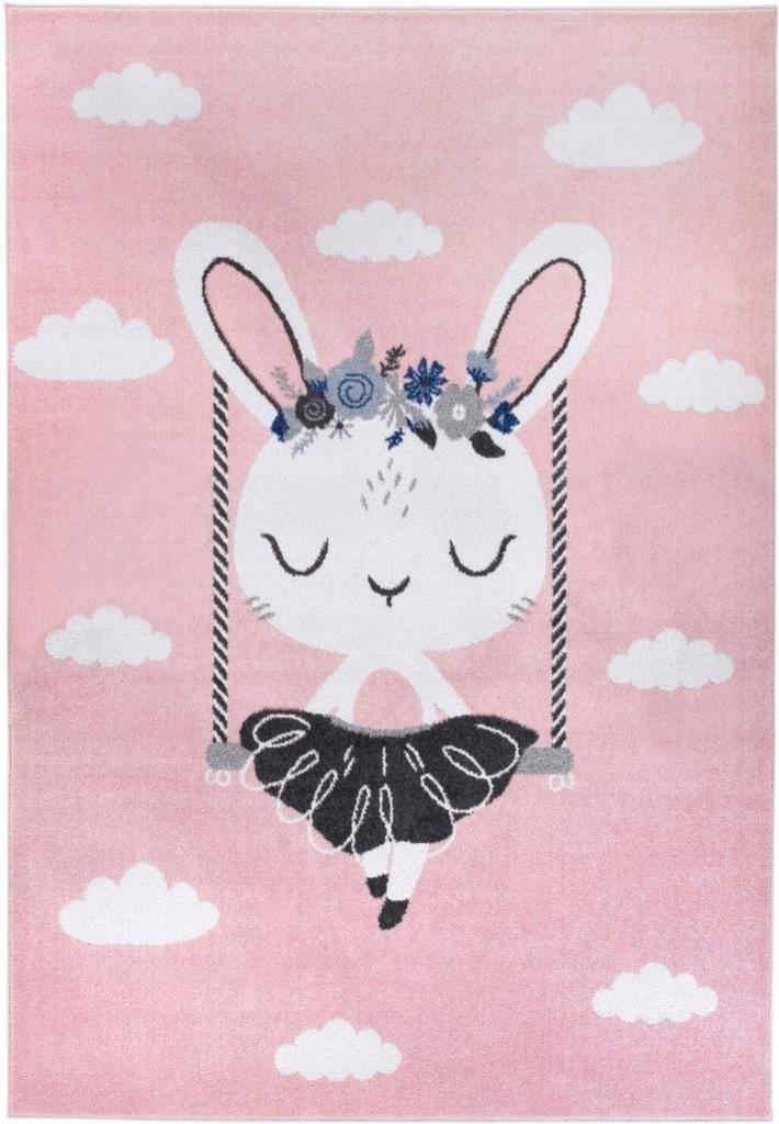 Dywan pokój dziecięcy różowy królik 80x150_CARPET
