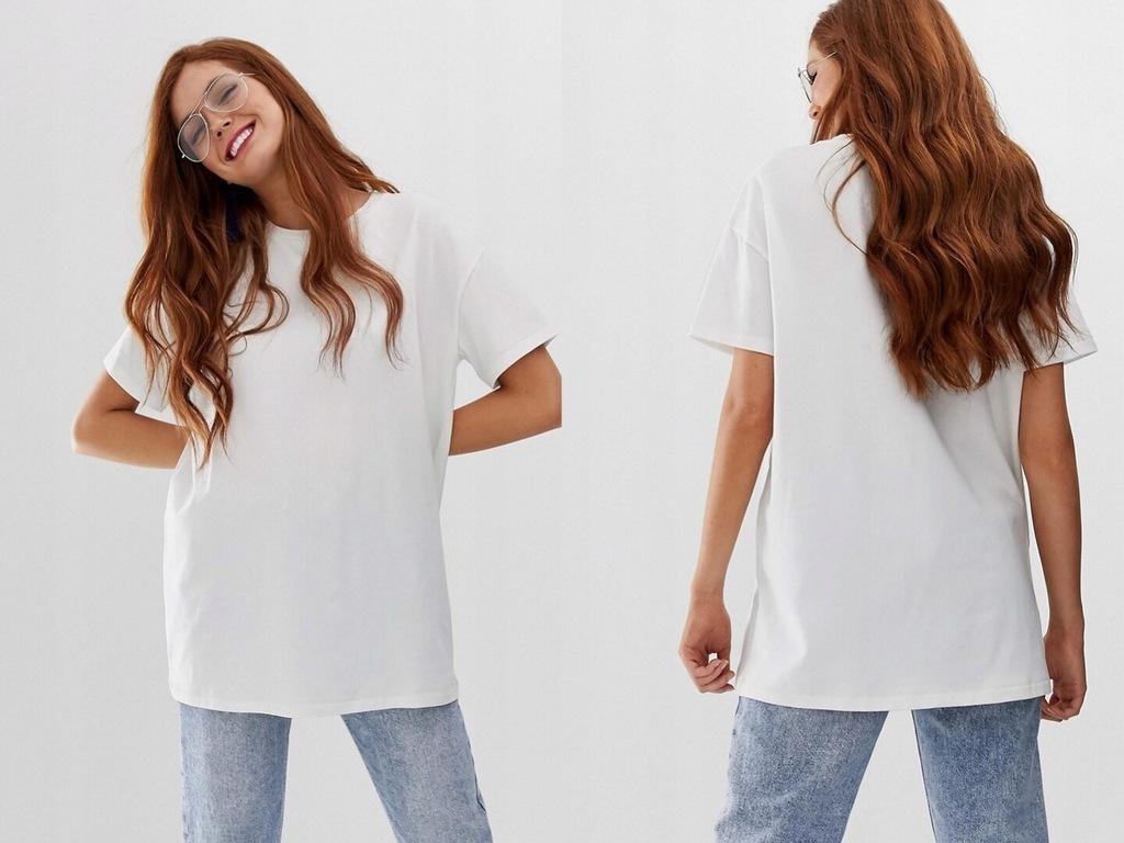 Stradivarius - Biała koszulka luźna L