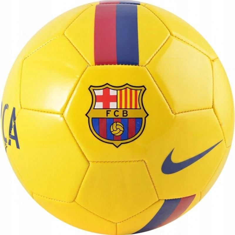 Piłka nożna Nike FCB Sports żółta SC3779 726 rozm