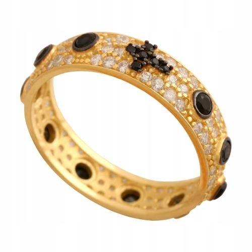 Złoty pierścionek różaniec r 11 Pr006 pr 585