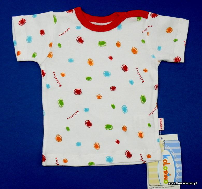 Bawełna koszulka podkoszulek krótki rękaw r. 62 PL