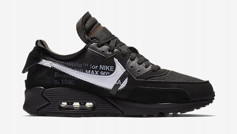 "Buty Męskie Off White X Nike Air Max 90 all Black"" Aa7293"
