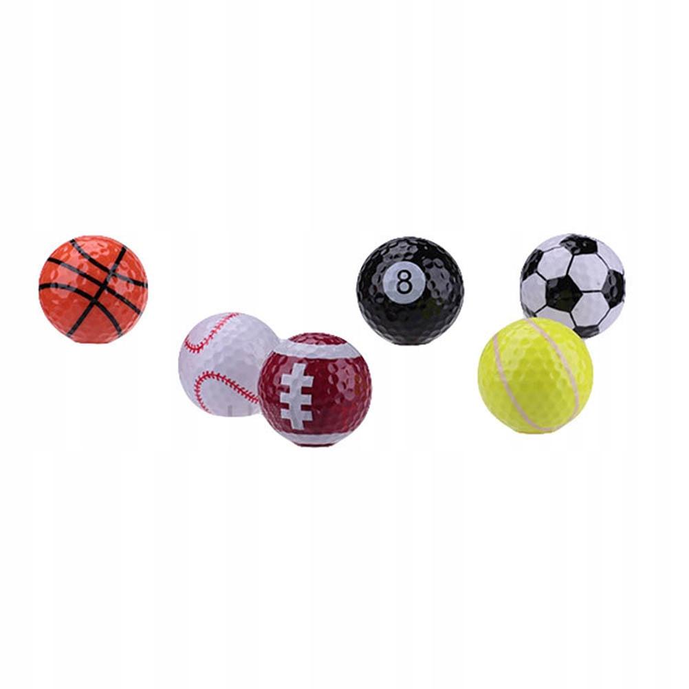 6szt Praktyczne piłki sportowe do golfa Kulki pomo