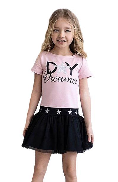 Sukienka ALL FOR KIDS tiul pudrowy róż 104-110
