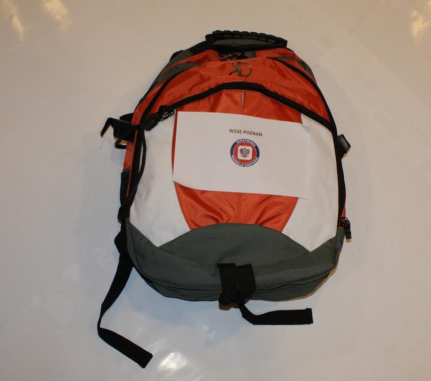 Prozdrowotny plecak z gadżetami Sanepid POZNAŃ