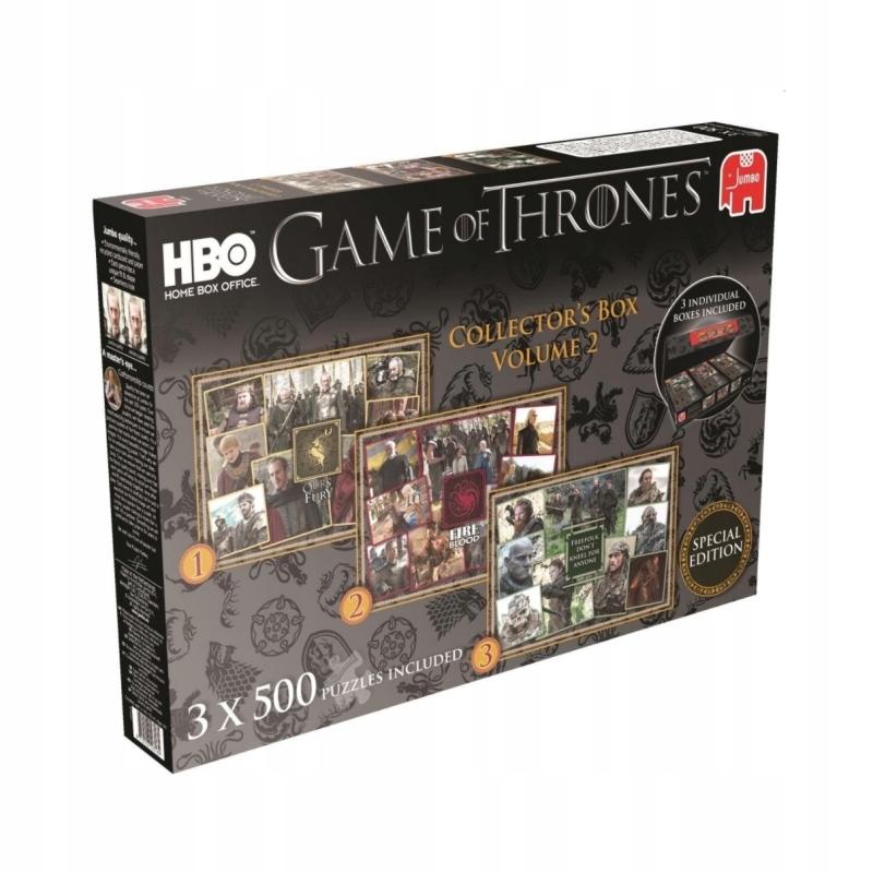 Gra O Tron Puzzle 3 X 500 Limitowana Edycja Hbo 6881491346 Oficjalne Archiwum Allegro