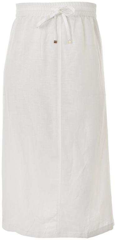 gAB2282 CAPSULE NOWA biała spódnica z lnem 56 8583804430
