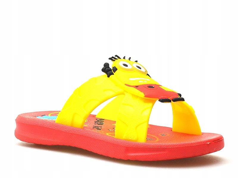 Klapki DAGO 321 Żółte/Czerwone 24 MINIONKI
