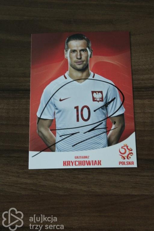 Zdjęcie z autografem Grzegorza Krychowiaka