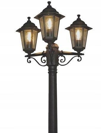 LAMPA Oświetlenie LATARNIA 195cm czarna 3x60W DEWA