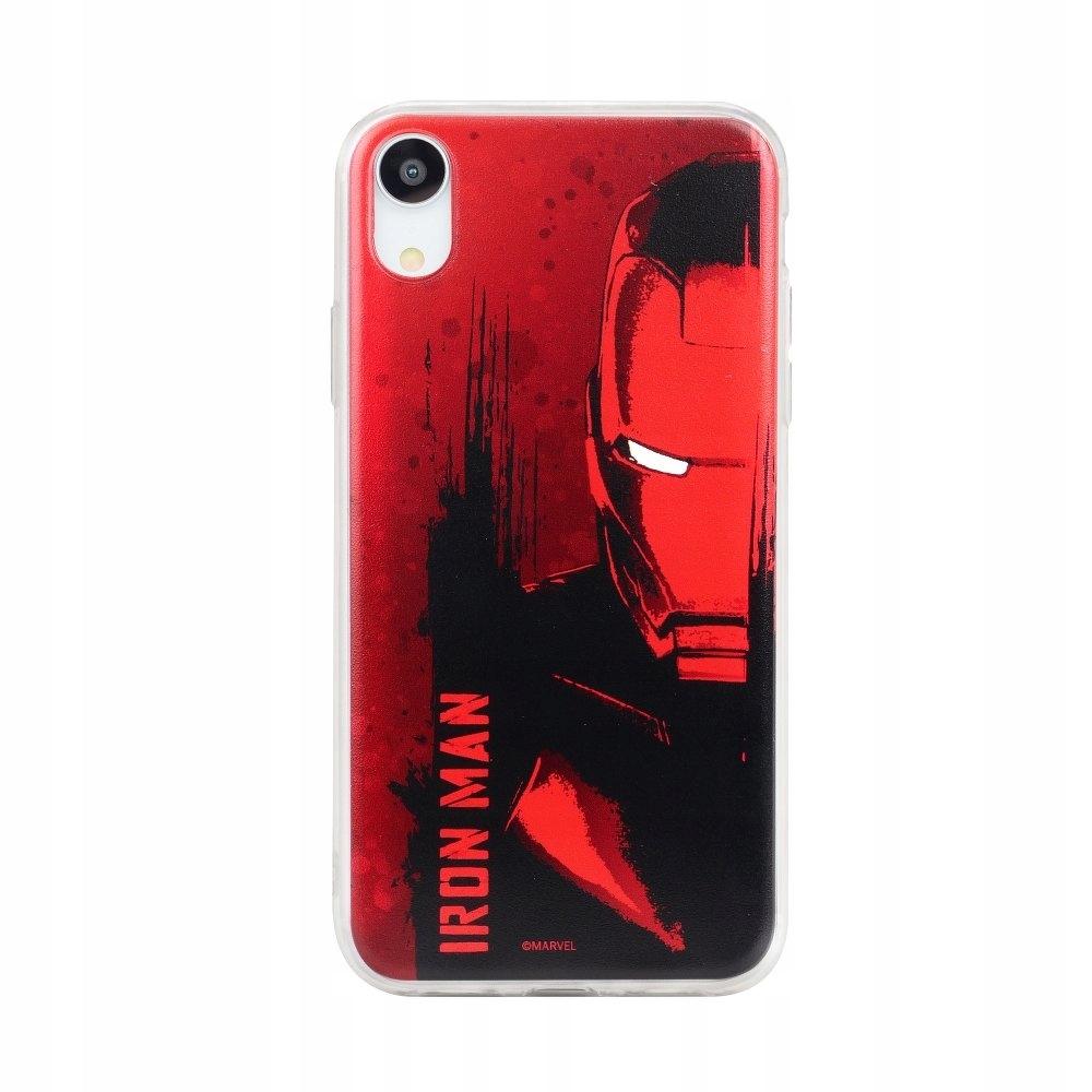 Futerał Huawei P20 Lite Iron Man czerwony wzór 004