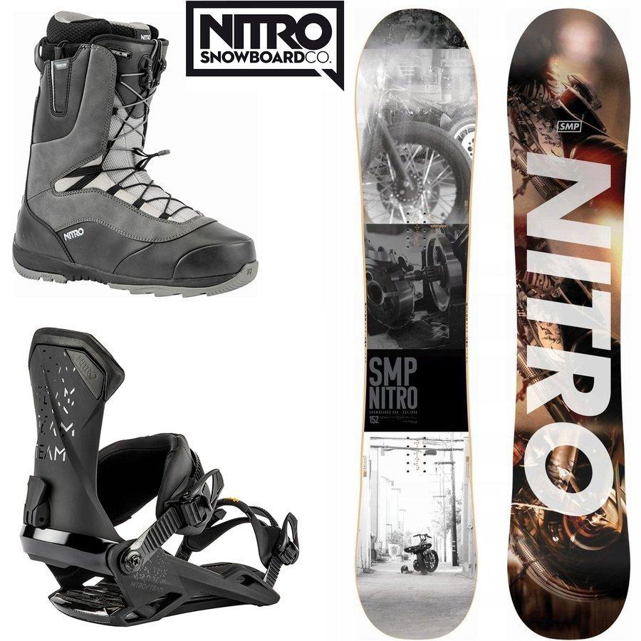 Snowboard SMP + wiązania Team + buty Venture