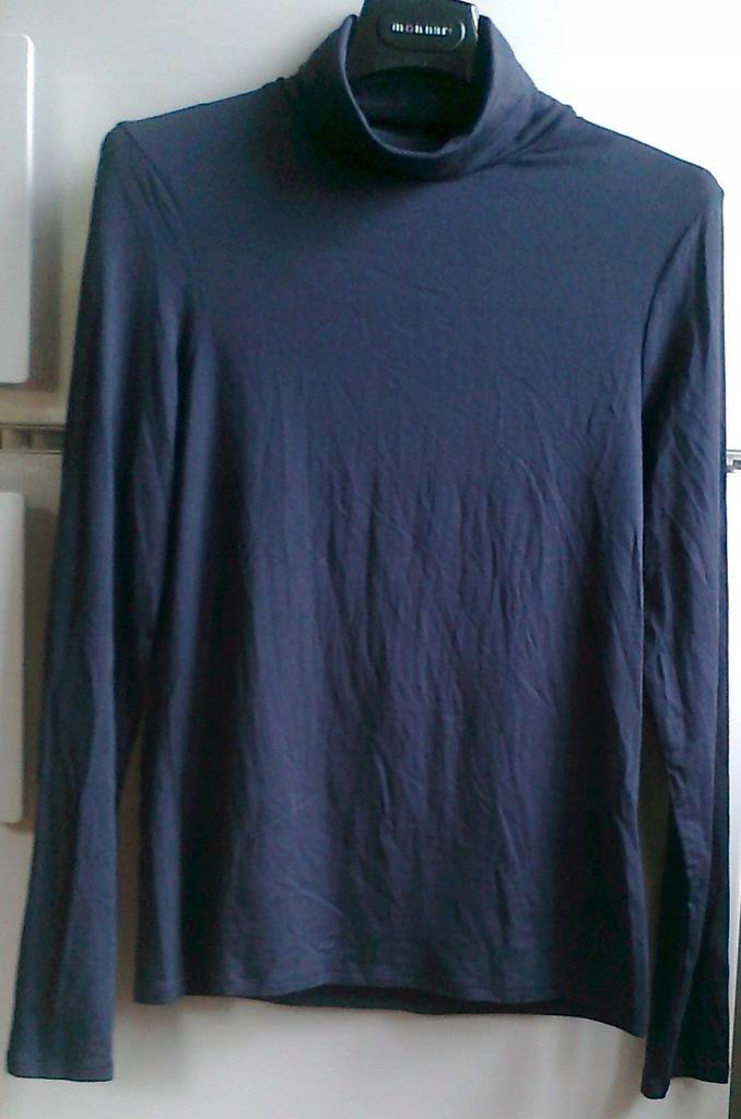 sweter sweterek z golfem 36 golf damski jedwabny