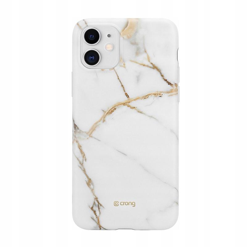 Crong Marble Case - Etui iPhone 11 (biały)