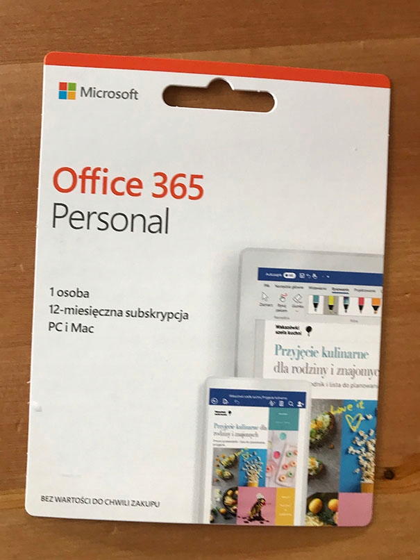 Microsoft Office 365 Personal PL 1Y