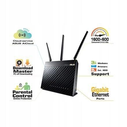 Asus Router RT-AC68U 10/100/1000 Mbit/s, Ethernet