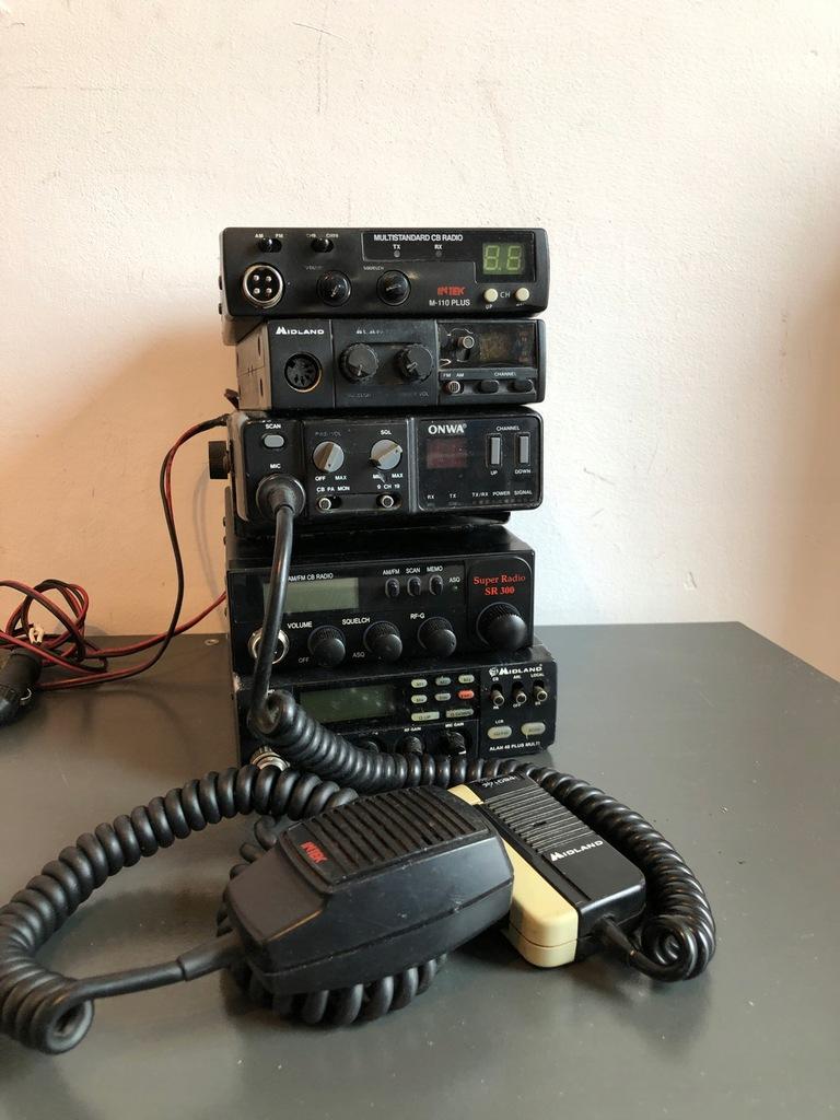 Zestaw stare CB radio