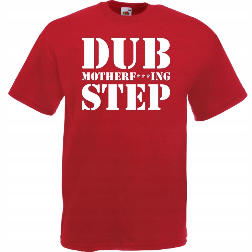 Koszulka z nadrukiem dubstep dub S ceglana czerwon