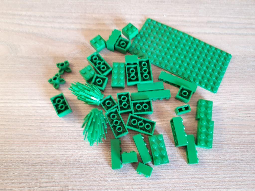 Zestaw klocków Lego - zielone