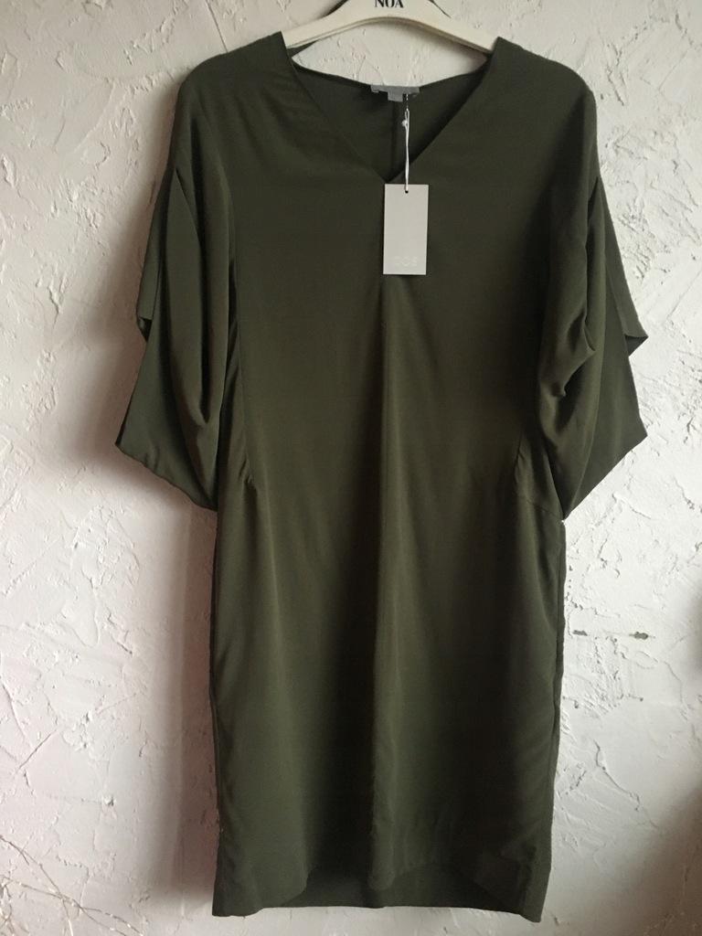 COS zielona nowa sukienka oversize XS
