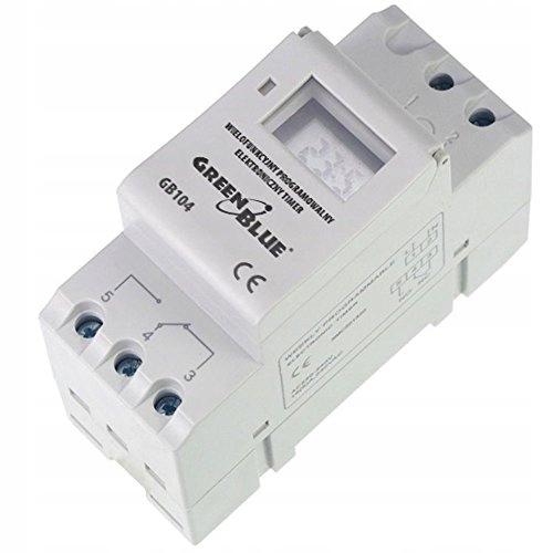 Timer cyfrowy GreenBlue GB104 na szynę DIN 16 prog