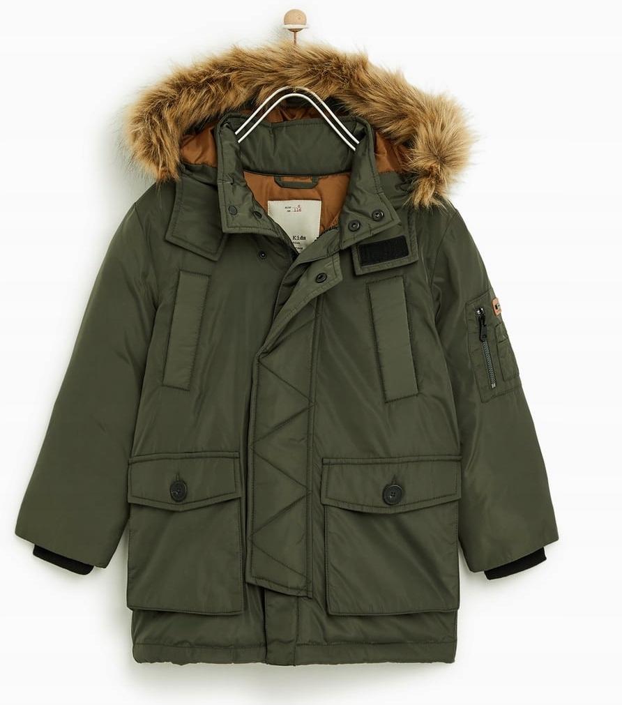 ZARA puchowa kurtka zimowa chłopięca 134, 9l