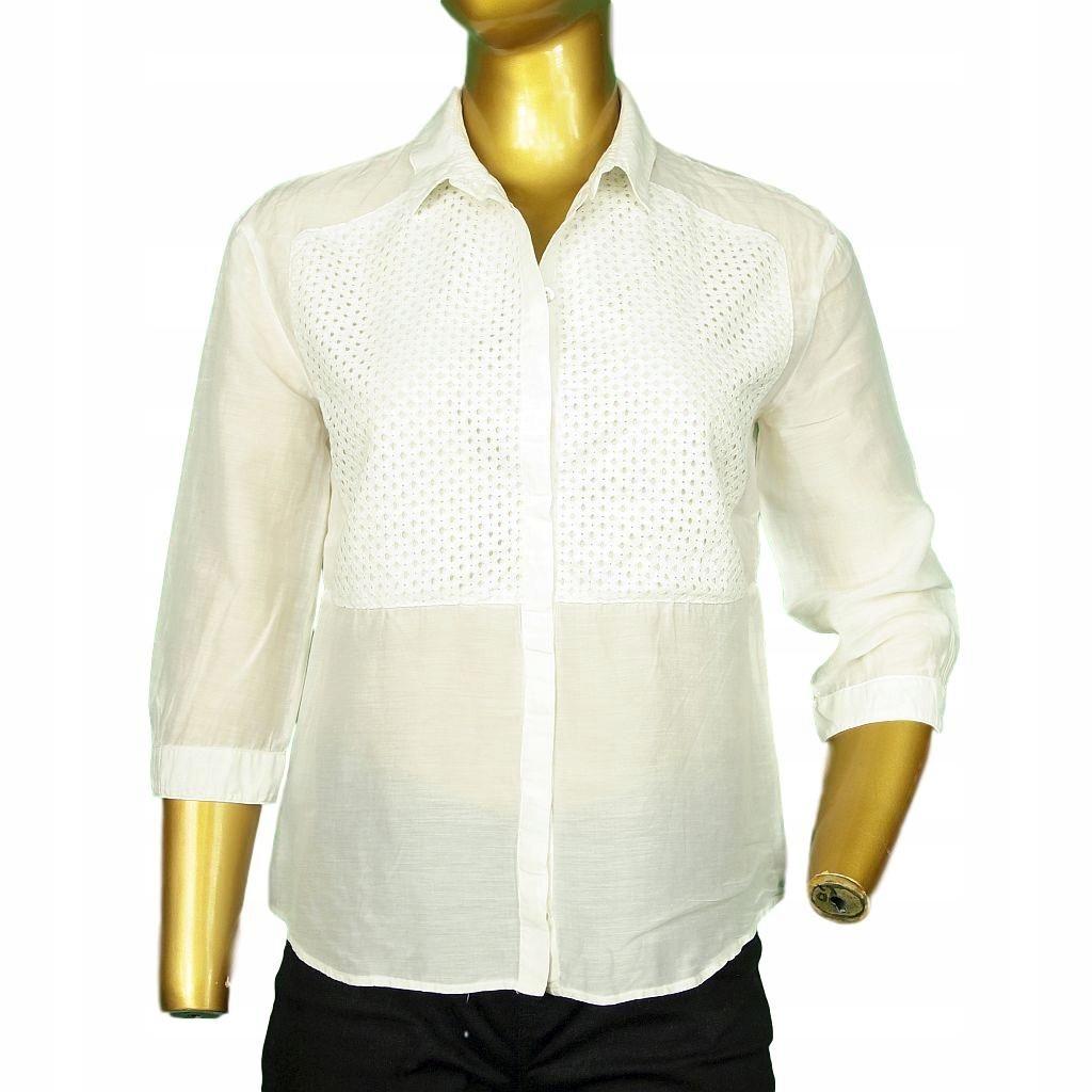 8896 HUGO BOSS Biała jedwabna koszula _ 38/M