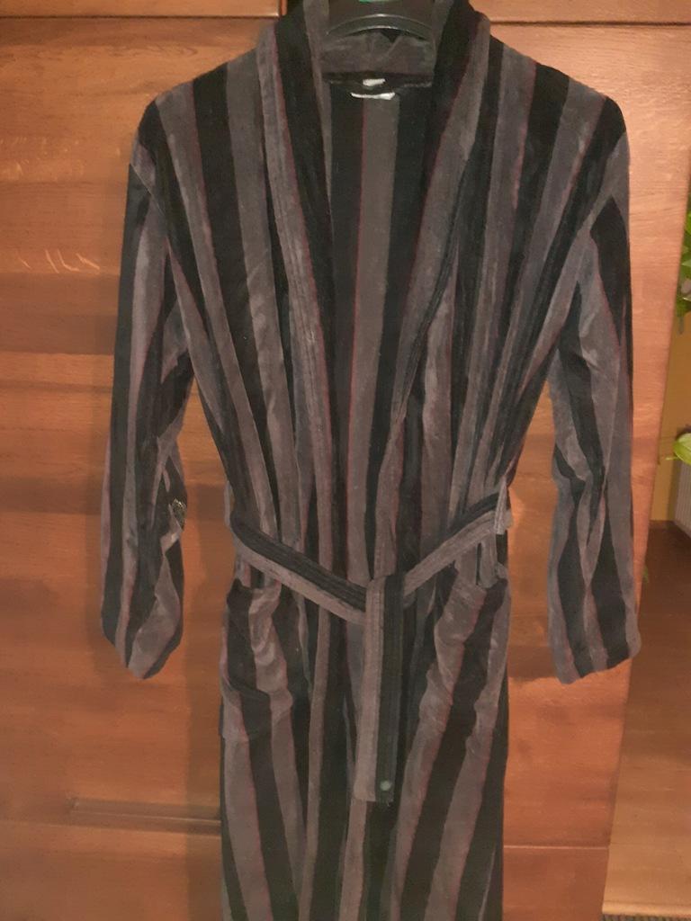 Szlafrok H&M S bawełna 100% ciepły długi