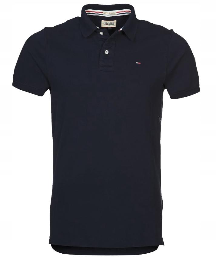 Koszulka męska Polo Tommy Hilfiger Czarna_XXL