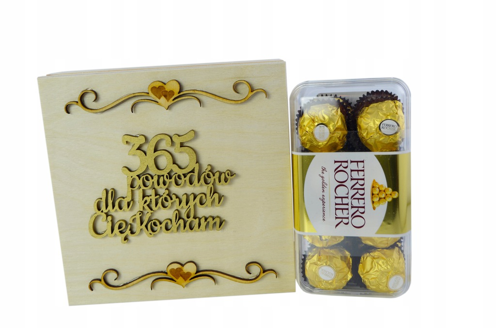 Zestaw Słodyczy Ferrero Prezent Dla Niej Skrzynka